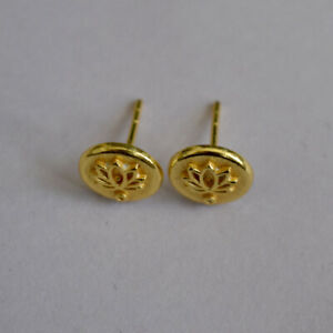 Circle earrings festival jeweler triangle hammered brass Jewellery BR-204