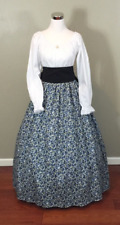 Blue Civil War Victorian Renaissance Southern Belle Colonial Dress Gown Costume