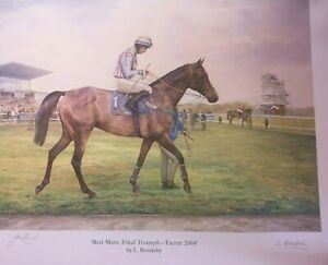 EQUESTRIAN HORSE RACING PICTURE PRINT EXETER 2004 FINAL TRIUMPH