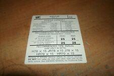 "1974 PONTIAC BONNEVILLE SAFARI GRAND PRIX TIRE PRESSURE DECAL NEW TYPE B ""KE"""