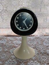Bulova Modern 1970's Desk Clock, Tulip base made in W. Germany