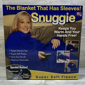 Snuggie Blue Fleece Wearable Blanket The Original Soft Warm Cozy With Sleeves