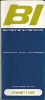 Braniff International Airways system timetable 1/1/68 [0051]