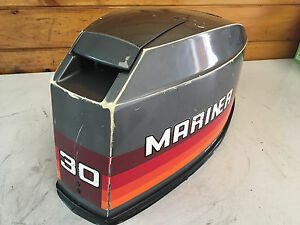 1980 's Mariner 30 HP Outboard Hood Top Cowl Cowling Shroud Freshwater MN