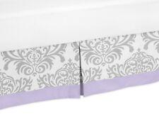 Sweet Jojo Design Toddler Bed Skirt Dust Ruffle For Lavender Purple Girl Bedding
