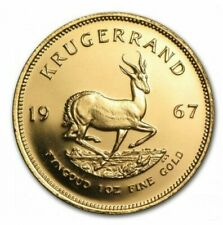 Classic 1oz Krugerrand 24ct Gold Plated Coin Bullion - 1967