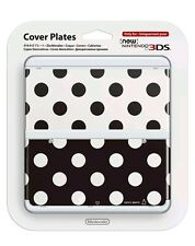 New Nintendo 3DS Cover Plates No.015 - Lunares Negro y Blanco - Carcasa - NEW