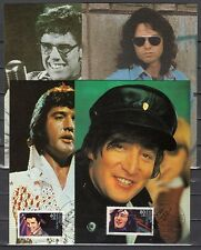 """ Germany, Scott cat. B666-669. Rock & Roll Stars as Elvis on 4 Max. Cards"