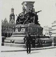 Francia Saint-Quentin Ca 1920 Monumento Foto Placca Da Lente Vintage VR11h
