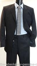 AQUASCUTUM Buckingham /Cameron BLACK  Wool  SUIT 44R Trousers 38S BNWT
