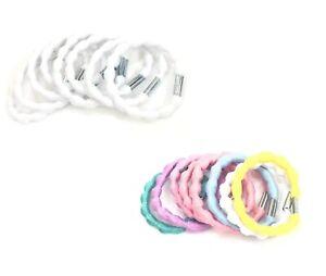 Girls Hair Elastics 8pc Set Ladies 5 mm Thick Bobbles Ribbed Design Hair Bands
