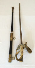 WWI US NAVY Presentation sword with scabbard id'd named Naval officer