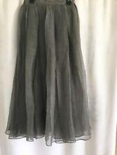 Country Road women's beautiful grey organza pleated skirt, size 4, new unworn