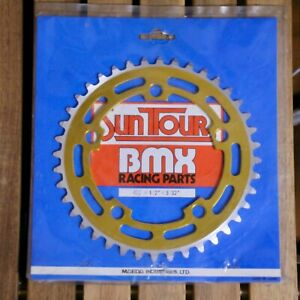 NOS Old school BMX Vintage Suntour 40T Gold Chainring KUWAHARA