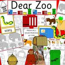 DEAR ZOO -teacher resource on CD -story telling, EYFS, KS1, animals, childminder