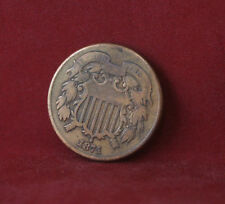 1871 Two Cent Piece Rare Old 2 cent coin Low Mintage
