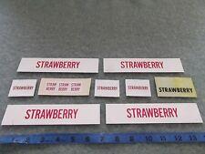 Strawberry Cooler Tag Lot Of 9 Vendo Button Vintage Machine Soda Coke Coca Cola