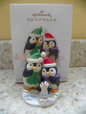 Hallmark 2012 Baby Makes Three Penguin Family Christmas Ornament