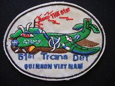 Vietnam War Patch US 51st Transport Detachment CARIBOU REPAIR At QUI NHON
