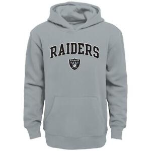 Oakland Raiders NFL Boys' Team Gray Hoodie, Size Large (14/16) - New With Tag