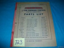 1960 COMMER 3/4 TON FORWARD CONTROL PARTS LIST MANUAL