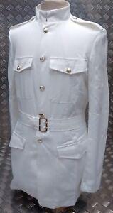 Genuine British Army No3 White Dress Jacket With Belt - All Sizes - BRAND NEW