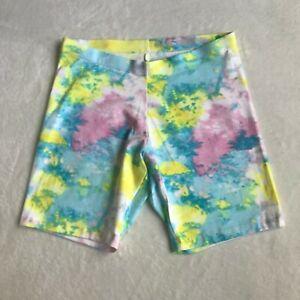"Wonder Nation Girls Stretch Pastel Tie Dye Bike Shorts Size XXL (18) Waist 28 """
