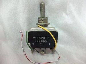 3x EATON MS25201-5 Toggle Switch 8860K5 On-On-Momentary On 1P.3.T 5930000443514