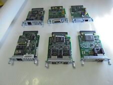Assortiment de 6 WIC CISCO carte. module, Lab, 2MFT-E1, 1 SHDSL-V3, 1 T, 1 ADSL, 1MFT-G703
