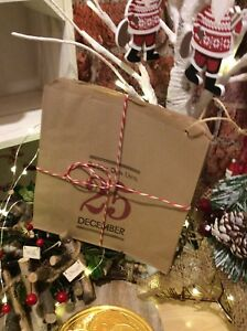 Do Not Open Christmas Paper Bags Kraft Party Sweets Gift Bag  15 or 30 or 45