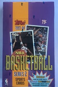 1993-94 Topps Series 2 Basketball Hobby Box Factory Sealed 36 Pack