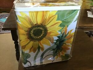 NEW!! Emma Bridgewater Tall.Slim, rectangular storage Tin, Flowers, 26x22x7cms