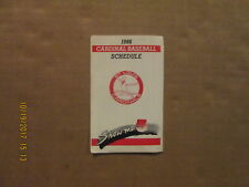 MLB St.Louis Cardinals Vintage Circa 1986 Team Logo Baseball Pocket Schedule