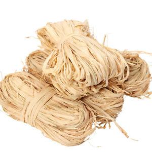 Natural Raffia Grass Straw Ribbon Bundles String for Crafts Florist Decoration