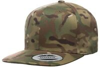 Yupoong® 6089MC GREEN MultiCam Snapback Hat Camo Classic Adjustable Camouflage