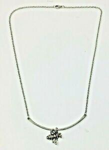 "James Avery Sterling Bronze Honey Bee JA Slide Necklace 18"""
