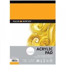 Daler Rowney Simply A4 Acrylic Pad 16 Sheet 190gsm