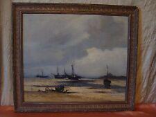 Tableau marine par L. Fournet huile sur toile resituable années 20-30