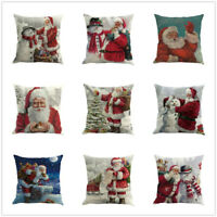 Christmas Printing Dyeing Sofa Bed Home Decor Pillow Cover Cushion Cover Case