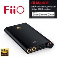 FiiO Q1-II Mark II Portable Headphone Amplifier DAC For Apple iPhone iPad iPod