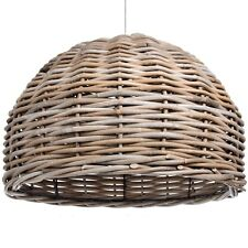 THE BALI COLLECTION FULL RATTAN HANGING LAMP SHADE - HANG FROM THE CELLING