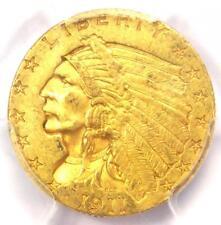 1911-D Indian Gold Quarter Eagle $2.50 Coin (Strong D) - PCGS AU Details!