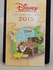 Disney Visa Card Chase 2015 Tinkerbell Treasure Chest Jewels Trading Pin