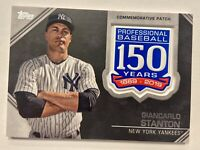2018-19 Topps Yankees Card Lot & Stanton 150th Anniversary Commemorative Patch
