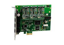 OpenVox A400E30 A400E 4 Port Analog PCI-E card + 3 FXS + 0 FXO, Ethernet (RJ45)