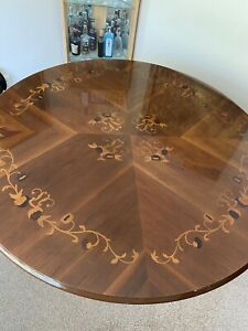 Italian Style High Gloss Solid Wood Dining Table Only