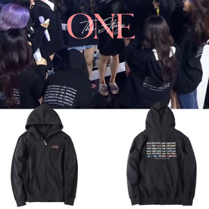 Kpop IZONE ONE THE STORY Concert Unisex Cap Hoodie Coat
