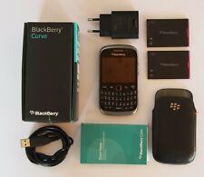 BLACKBERRY 9320 CURVE NERO - Smartphonecompleto di tutto+CUSTODIA IN VERA PELLE