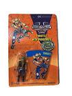 1993 Biker Mice Mars galoob Mini Figure Secret Throttle Parachute Rack Toy MOC