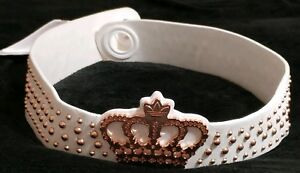 Adidas Missy Elliott Ladies Retro White Crown Studded Ribbon Tie Belt